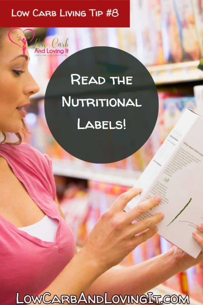 low carb tip - Read the nutritional labels
