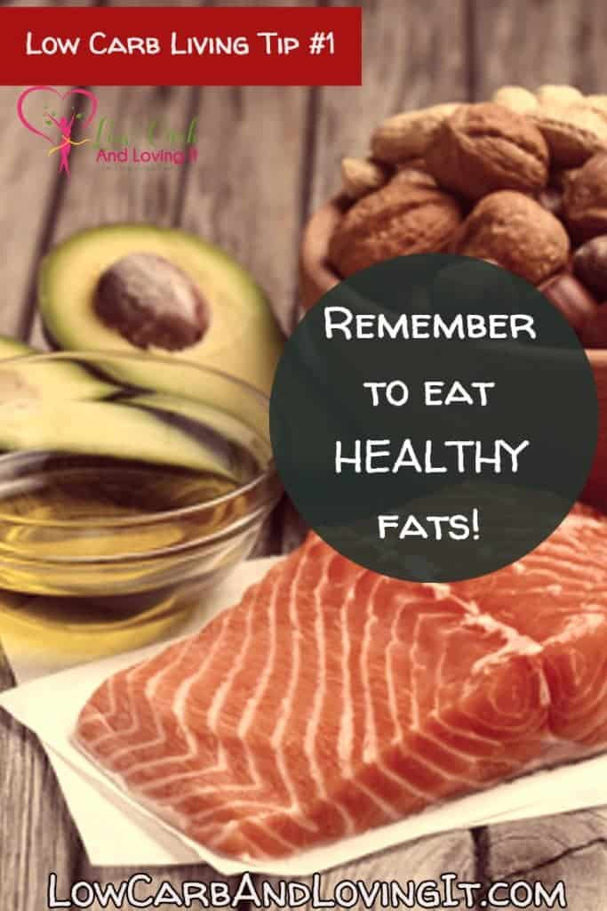 healthy low carb - eat healthy fats