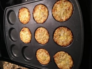 I put the cheese in muffin top pan