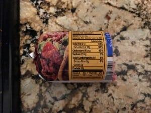 Ground beef - used 1/2 a tube