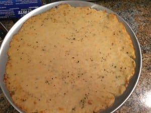 Baked crust until the edges were brown